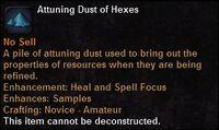 Attuning dust hexes