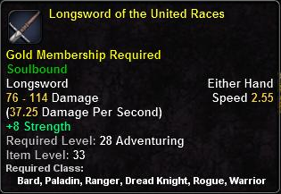 Longsword of the United Races