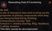 Resonating dust countering