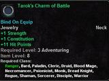 Tarok's Charm of Battle