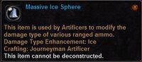 Massive ice sphere