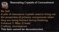 Resonating crystals concealment