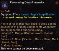 Resonating dust intensity