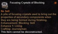 Focusing crystal blocking