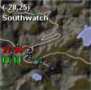 Map thestra southwatch