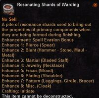 Resonating shards warding