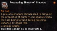 Resonating shards shadows