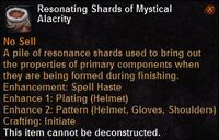 Resonating shards mystical alacrity