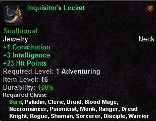 Inquisitor's Locket
