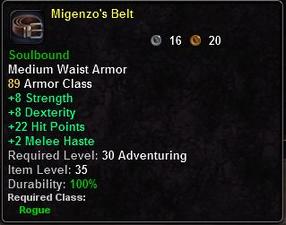 Migenzo's Belt