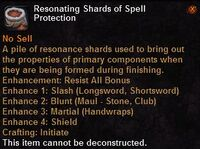 Resonating shards spell protection