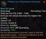 Pristine iron stonemason hammer