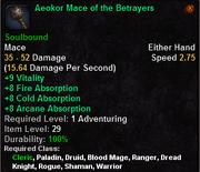 Aeokor Mace of the Betrayers