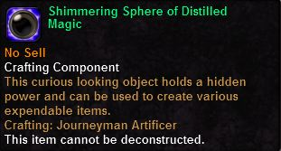 Shimmering Sphere of Distilled Magic