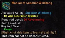 Manual of superior windsong