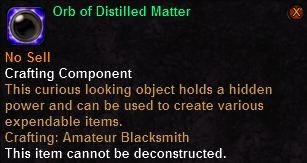 Orb of Distilled Matter