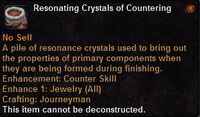 Resonating crystals countering