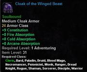 Cloak of the Winged Beast