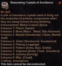 Resonating crystals avoidance