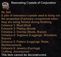 Resonating crystals conjuration