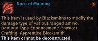Rune of maiming