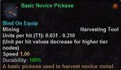 Basic novice pickaxe