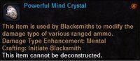 Powerful mind crystal