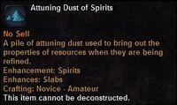 Attuning dust spirits