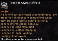 Focusing crystal pain