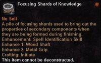 Focusing shard knowledge