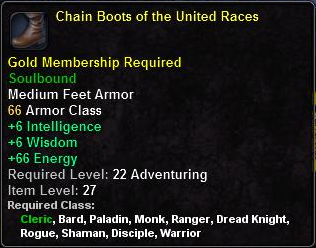 Chain Boots of the United Races