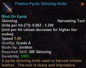 Pristine pyrite skinning knife