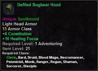 Defiled Bugbear Hood