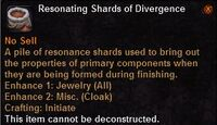 Resonating shards divergence