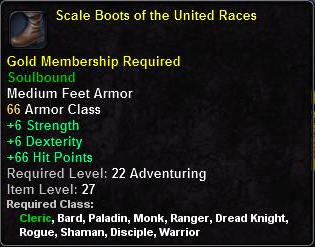 Scale Boots of the United Races