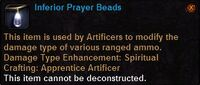 Inferior prayer beads