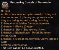 Resonating crystals devastation
