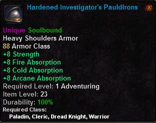 Hardened Investigator's Pauldrons