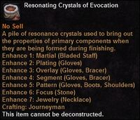 Resonating crystals evocation