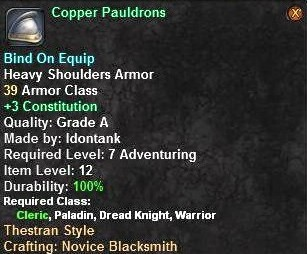 Copper Pauldrons