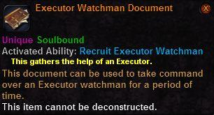 Executor watchman document