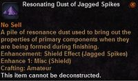Resonating dust jagged spikes
