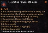 Resonating powder elusion