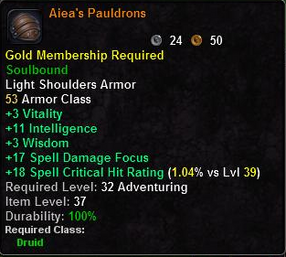 Aiea's Pauldrons
