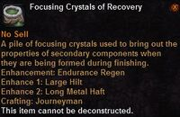 Focusing crystal recovery