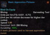 Basic apprentice pickaxe