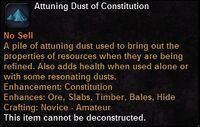 Attuning dust con