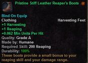 Pristine stiff leather reaper's boots