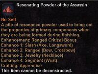Resonating powder the assassin