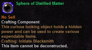 Sphere of Distilled Matter